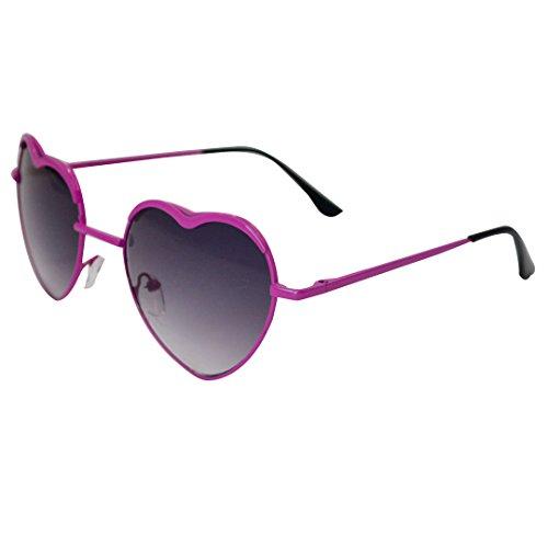 Isabelle gafas de sol unisex forma cardiaco protección UV deporte gafas de sol para conducir pesca esquí Golf Faire de la Carrera a pie