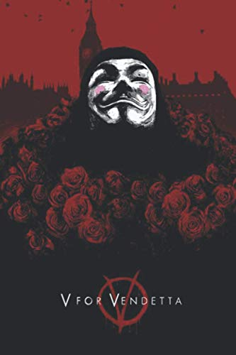 V for Vendetta: Lined notebook, gift book, writing notebook, notebook, diary, composition book