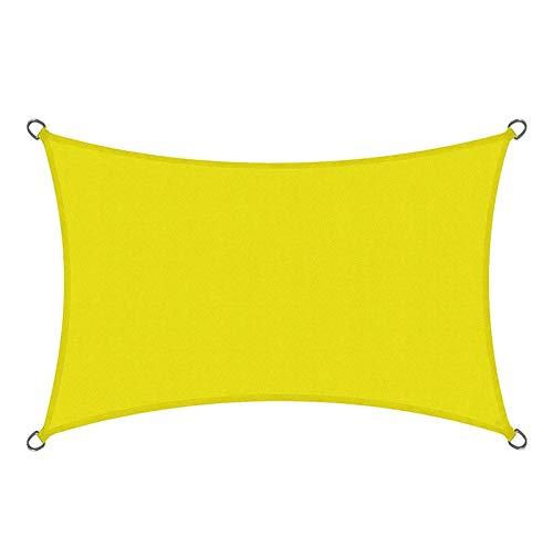 QI-CHE-YI Außenmarkise, Regen- und Sonnenschutzgarten Sonnenschirm Segel, Balkon und Terrasse Sonnenschutz-Baldachin,Gelb,4x8m