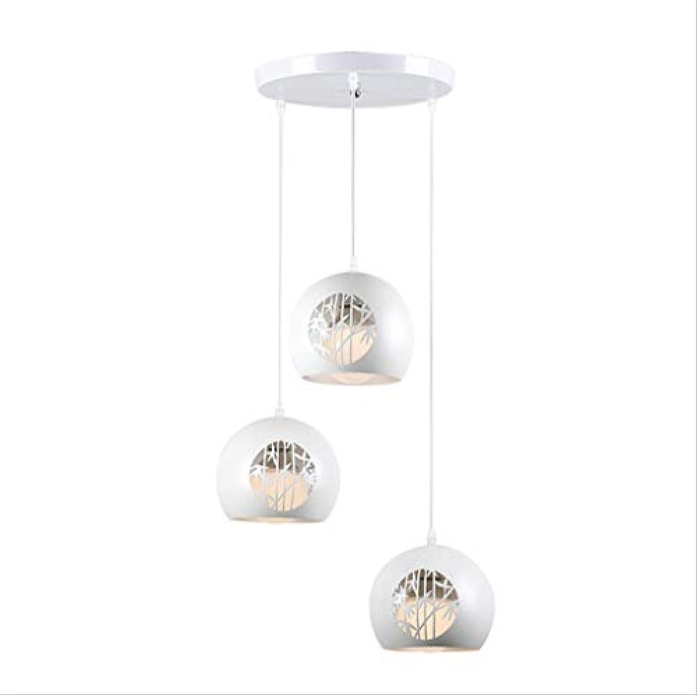 DREI LED-Kronleuchter, einfache schmiedeeiserne kreative dreikpfige Hohle LED-Kronleuchter für Schlafzimmer, Wohnzimmer, Esszimmer, Café, Bar Beleuchtung