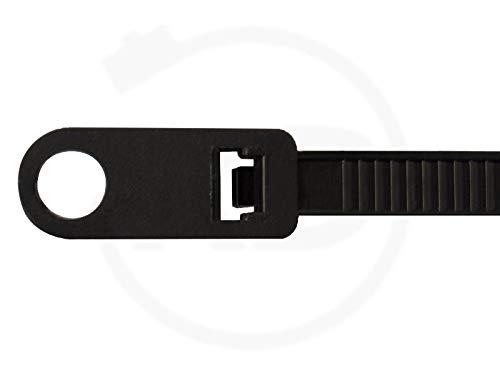 Kabelbinder mit Befestigungsöse 3,6x150mm schwarz, 100 Stück