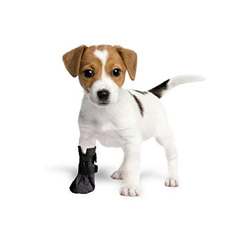 Grand Finale Schutzsocken, atmungsaktiv, für Hunde und Katzen, 100 % Softshell-Schutzbezüge, Schutz vor Verletzungen (1 x S) -4 cm (1,6 Zoll) H-7 cm, Schwarz