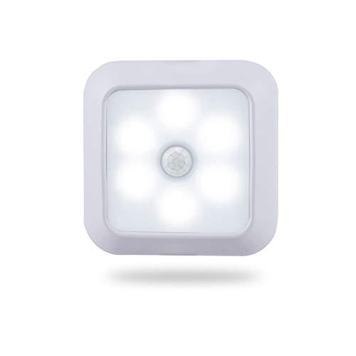 Luz Pasillo con Sensor Movimiento Luz Inteligente Inalámbrica Luz Led Adhesiva con Iman para Armarios para Habitación del Niño Cabecera Corredor Entrada Dormitorio, Funciona con Pilas, Magnético