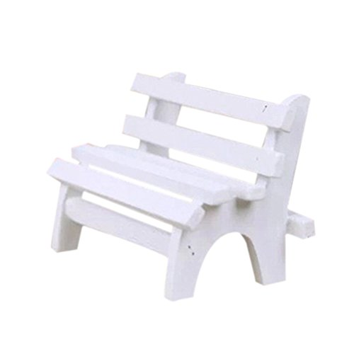 VORCOOL Mini Holzbank Ornament Stühle für Photo Booth Props Home Dekoration