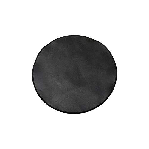 Teeyyui Alfombra de chimenea ignífuga, alfombrilla de protección para el suelo, antideslizante, redonda de fibra de vidrio, protege los suelos de chispas y aspas (24 pulgadas)