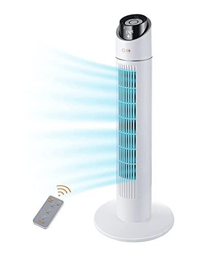 Ventilador de aire para casa, oscilante de 70 grados, con mando a distancia, 3 velocidades, 3 modos, temporizador de 15 horas, ventilador portátil vertical para dormitorio, sala de estar, oficina