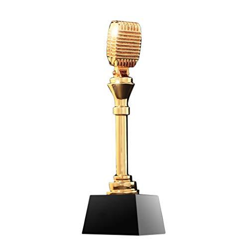Trofeeën microfoon Trofee zingen Speech Contest Muziek Host Aangepaste Prijs werknemer Jaarlijkse Vergadering High-end Gift Medal model