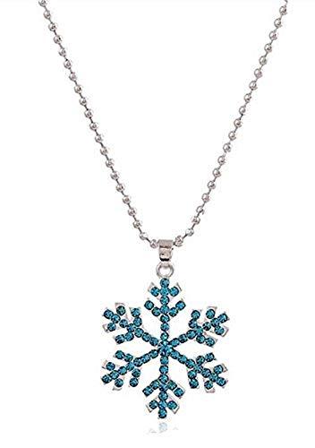 Inception Pro Infinite Collana Fiocco di Neve Elsa Frozen con Strass Brillanti Celesti Anna Olaf Cartone Animato Regno di Ghiaccio