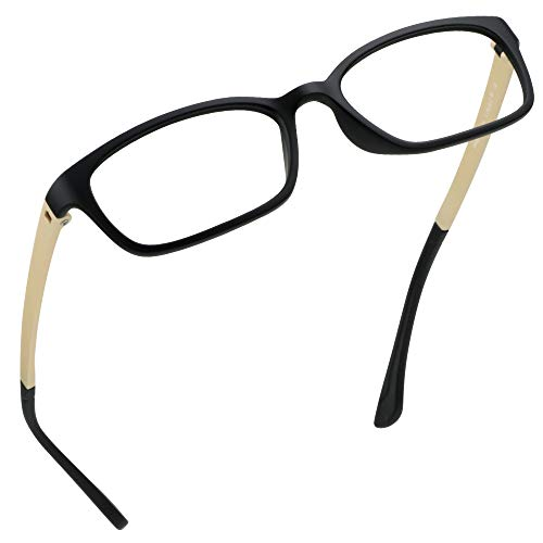 LifeArt Blaue Licht Blockieren Brille, Anti-Augen-Müdigkeit, Computer Lesebrillen, Gaming Brille, TV Brille für Frauen Männer, Anti UV, Anti Glare (Rot, 0.25 Vergrößerung)