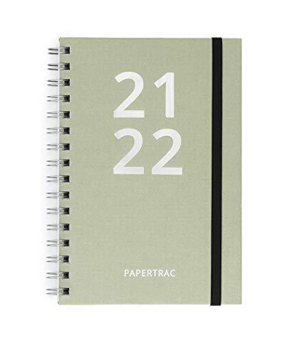 Papertrac - Agenda 21-22 Grey - Semana Vista - 160 páginas - Tamaño A5-14 x 21,2 cm