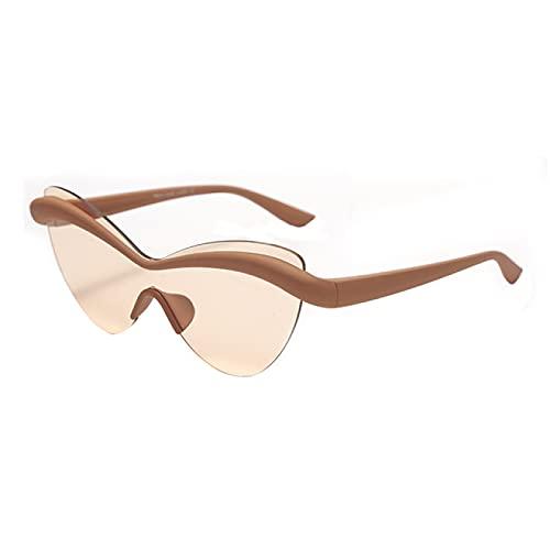 WOJING Gafas De Sol Ojo De Gato Ultraligeras Hombres Mujeres Vintage Montura Única Gafas De Una Pieza Gafas De Hombre UV400 Gafas De Sol