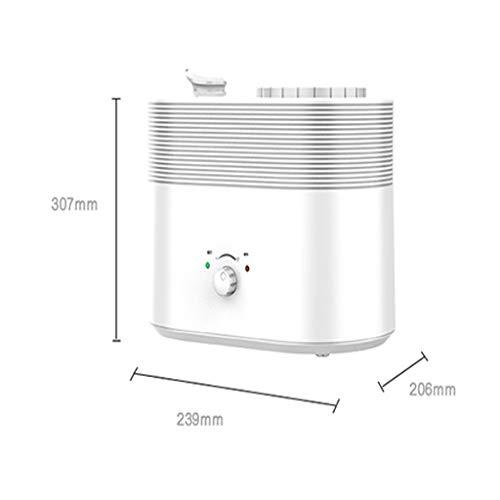 Haozai Ultrasone luchtbevochtiger, 3,8 l, voor baby's tot 40 – 50 m2, ultra stille kamerbevochtiger, slaapkamer, luchtbevochtiger kantoor met slaapmodus, wit 95
