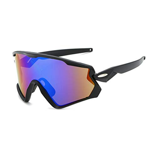 Gafas Ciclismo Hombre y Mujer, Gafas de Sol Deportivas Polarizadas Tr90 Superlight Marco Gafas Correa para Deportes Pesca Playa Golf Senderismo