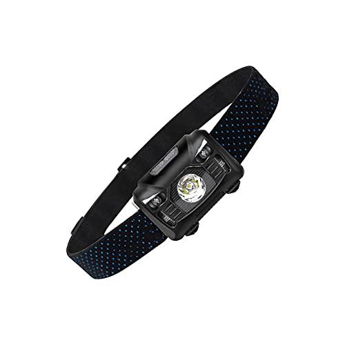 Topwor Linterna Frontal LED Recargable, Linterna de Cabeza Alta Potencia con Sensor, 5 Modos, Impermeable Lámpara de Cabeza para Running, Acampar, Pesca, Ciclismo, Excursión
