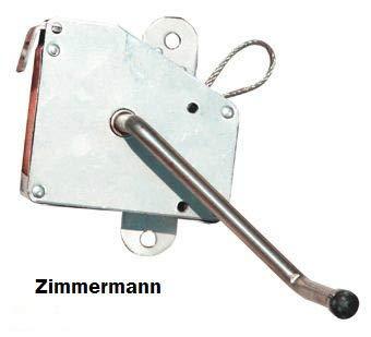 Zimmermann24de Kurbel Seilwinde Edelstahl Handkurbel 3 m Edelstahlseil für Schwenkgrill