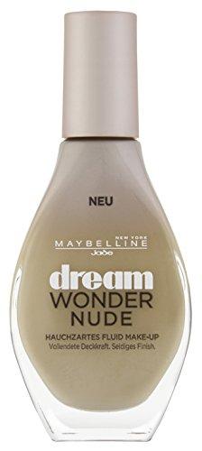 Maybelline New York Dream Wonder Nude Make-Up Cameo 20 / Flüssige Schminke in einem Hautfarben-Ton für ein natürliches Ergebnis ohne Maskeneffekt, inkl. innovativem Applikator, 1 x 20 ml