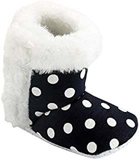 CHIU Fur Polka NavyBlue Booties for 0-6 Month's and 6-12 Month's Baby Girl and Baby Boys