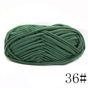 NUJA 4X100gram / Pack, Jingxing, Hand Knitting T-Shirt Yarn Freundlich Qualität, Handfertigkeit Spaghetti Garn for DIY Beutel Teppiche (Farbe : 36)