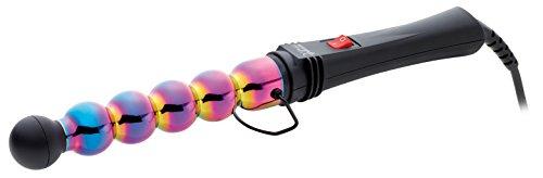 GAMMAPIU' Professioneller Lockenstäbe Bubble Rainbow, Breite und Schmale Wellen, Hitzebeständige Spitze, Lange Bewegungsunschärfe, Reduzierung der Elektrostatik, Styling, Italienischer Stecker