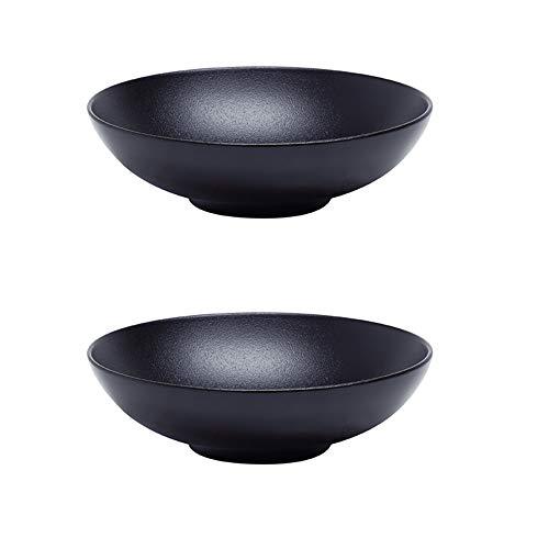 The Taste: Bowl Ø 19 x 6 cm - Inhalt 0,8 l, schwarz, Porzellan - Das Original aus der Sendung - 2er Set