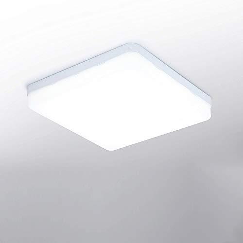 LED Deckenleuchte 24W 2160lm Quadratische Deckenlampe 6500K Kaltweiß Panel Light Badezimmerleuchte Innenbeleuchtung für Schlafzimmer Küche Flur Büro Esszimmer 18 * 18 * 4cm [Energieklasse A++]