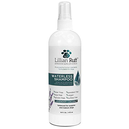 Lillian Ruff Waterless Dog Shampoo – No Rinse Quick Dry Shampoo for Dogs Spray