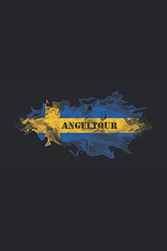 Angeltour: Cooles Notizbuch für die Schweden Angeltour zum Angeln auf Hecht, Zander, Barsche und andere Raubfische mit einer Schweden Flagge. Super ... 6'' x 9'' (15,24cm x 22,86cm) DIN A5 Liniert