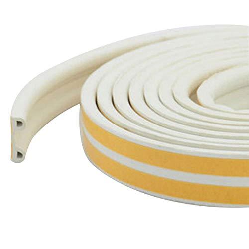 1PC 5M D-type afdichtstrip Zelfklevende afdichtstrips Schuimtap Excluder Zelfklevende raamdeurafdichting Strip Hardware-instrumenten, witte P-strips, 5M