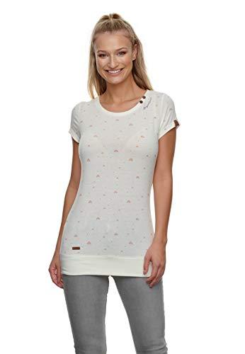 Preisvergleich Produktbild Ragwear Damen T-Shirt Lesly Rainbow 2111-10024 Off White 7008 Wollweiß