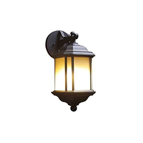 Luyshts Retro Linternas de pared al aire libre Linternas Square europeo Impermeable Fondo simple E27 Lámpara de pared anti-corrosión de aluminio anti-corrosión Anti-corrosión Balcón Patio Pasillo Pasi