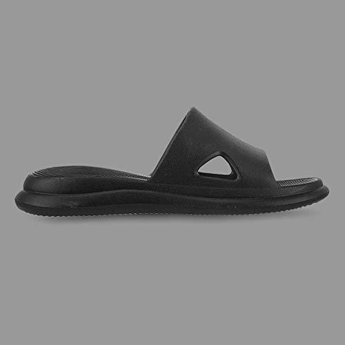 QXbecky Zapatillas para hombres y mujeres, baño de verano, antideslizantes, zapatillas de masaje EVA, zapatillas sencillas para el hogar