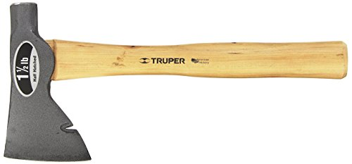 Truper 30516 1-1/2-Pound Half Hatched Axe, Hickory Handle, 14-Inch