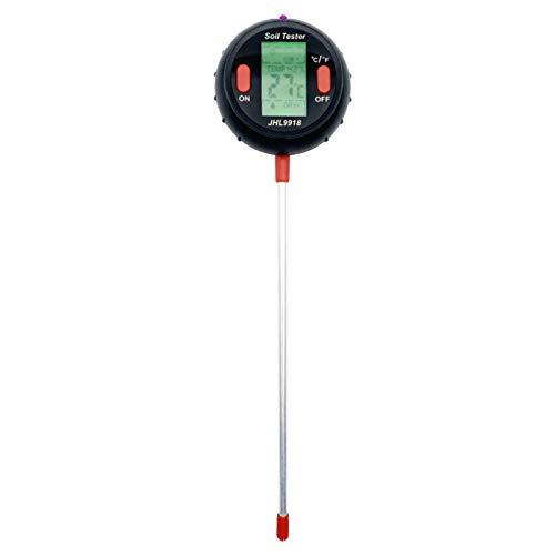 Lifcasual Medidor de pH de suelo 5 en 1, medidor de humedad del suelo con prueba de temperatura, humedad, luz, pH y humedad para el cuidado de plantas de jardín en granjas de jardín