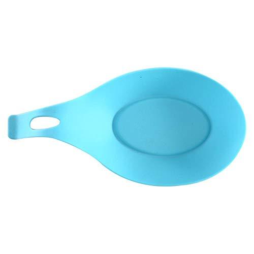TPCMD Silicona Almohadilla Comestible Cuchara del Resto una edición Cuchara Plana Cuchara amortiguación cocinar Cuchara Cuchilla Guante 19,5 * 9,5 * 2,5 cm (3 Piezas),La luz Azul de la Trompeta