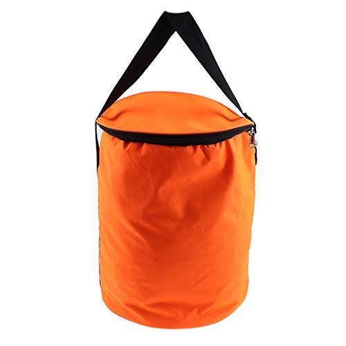 Hellery Tennis Golfbälle Reisen Wiederverwendbare Lagerung Einkaufstasche Sport Eimer Handtasche - Orange, 28 cm