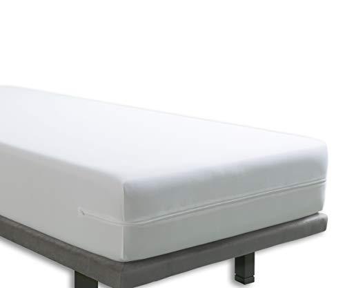 Tural - Housse pour Matelas Anti-acariens imperméable et Respirante - Blanc - 90x190/200cm