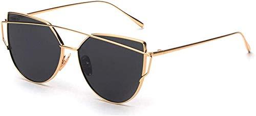 XGBDTJ Sonnenbrille Katzenauge Brille Vintage Pilotenbrille Mode Living Metal Glasses Frame Nachtsichtbrille Runde Unterschiedliche Farben Sunglasses Klare Linse Brille (Color : Gold, Size : Size)