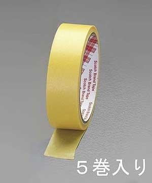 エスコ(ESCO) 塗装用マスキングテープ(5巻) 24mm×18M EA943MB-24 [養生テープ]