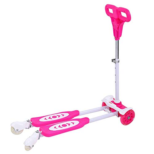 DSJSP Niños Swing Wiggle Scooter Cuatro Ruedas Drifter Kid Sports Equipment Rosa Edad Adecuada 3-10 años