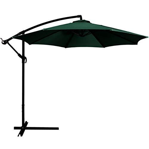 Angoily Sonnenschirm Baldachin Heavy Duty UV Sonnenschutz Sonnenschirm Schatten Baldachin ohne Regenschirm Stehen für Garten Terrasse Hof Strand Pool (Dunkelgrün)