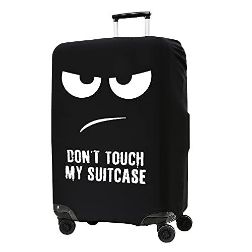 kwmobile Coprivaligia con cerniera - Fodera copertura protettiva - Copritrolley elastico in poliestere e spandex per bagagli Valigia (XL) Don't touch my Suitcase