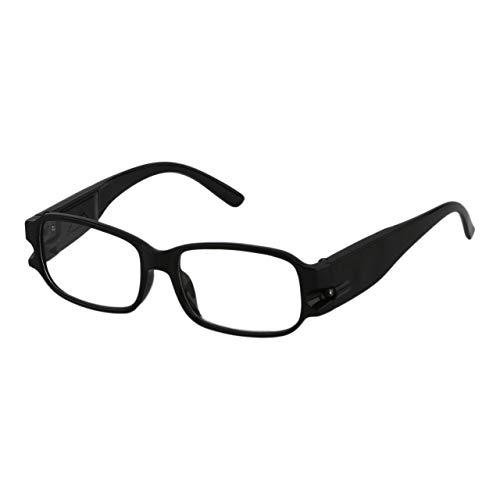 Universal-Männer Frauen Lesebrille Magnetiotherapie Harz Objektiv Presbyopie Brille Brillen-Gläser mit LED-Licht (weiß) DEjasnyfall