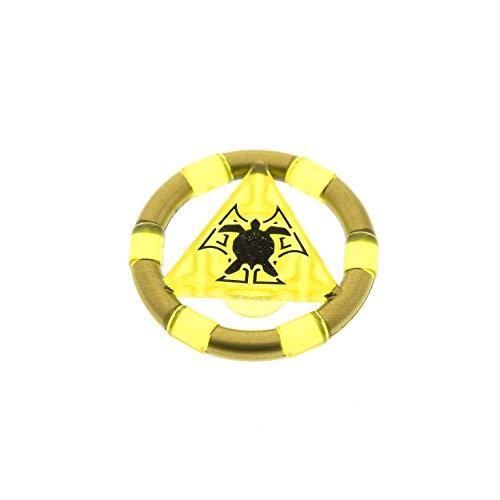 1 x Lego System Ring transparent gelb gold Triangel Symbol Schildkröte Atlantis Schatz Schlüssel 8078 8077 8079 8060 87748pb02