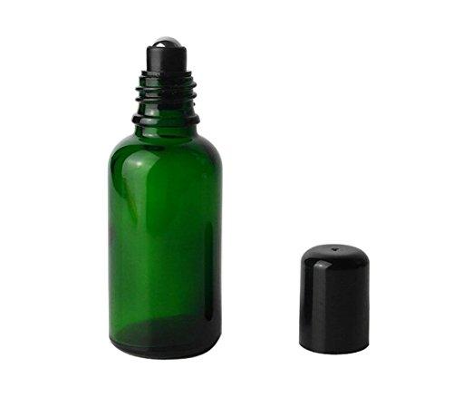 Set mit Öl-Roll-Vial mit Glas Gläser mit Stahl Roller Bälle, Kosmetik-Container Parfum Make-up Storage Halter für Frauen Damen Mädchen