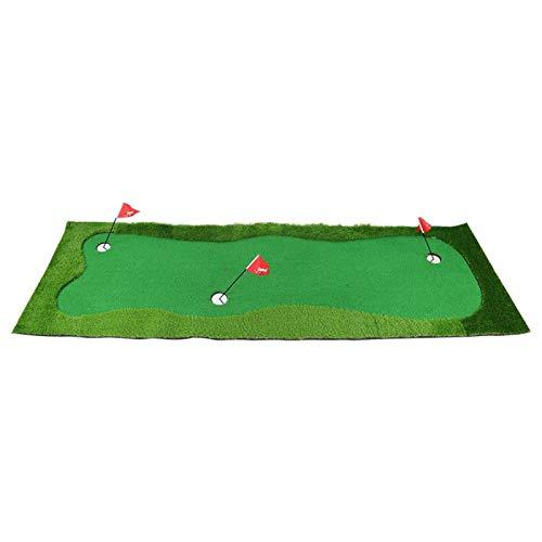 Cuque Tapete de práctica, tapete de Putt simulado, césped Artificial de 300x100cm para niños Adultos, Club de diversión Interior/Exterior para golfistas