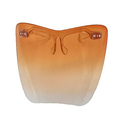 QiChan Nuevos anteojos que cubren la cara completa, protector facial protector protector de gafas reutilizable, protección facial y protector bucal, bufanda facial de seguridad con marcos de gafas