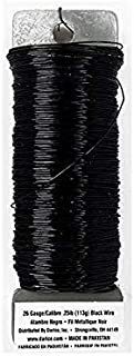 DariceFloral Paddle Wire - 26 gauge - Black - 95 yards