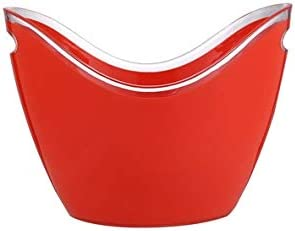WJCCY Plastic Ice Bucket with Handle New depot life for Beer Used Wine Be Can