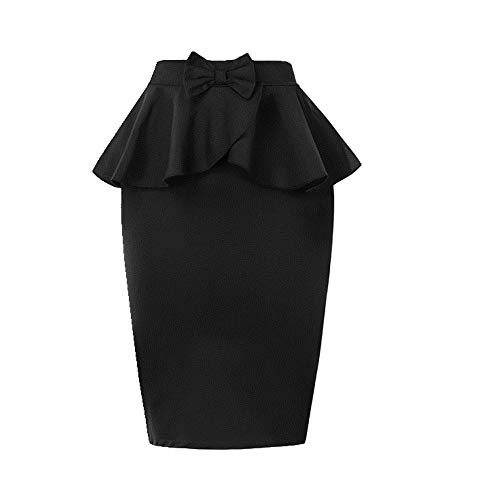 N\P Las mujeres arco vintage hendidura trasera bodycon faldas damas verano cintura alta faldas