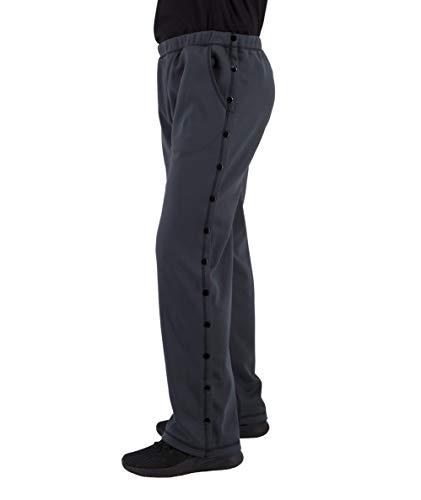 Post Surgery Tearaway Pants - Men's - Women's - Unisex Sizing (Grey, XX-Large)